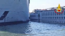 Βίντεο: Κρουαζιερόπλοιο έπεσε πάνω στην προβλήτα και σε μικρότερο πλοίο στη