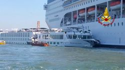Several Injured After Huge Cruise Ship Crashes Into Tourist Boat, Dock In