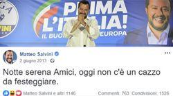Quando Salvini il 2 giugno scriveva: