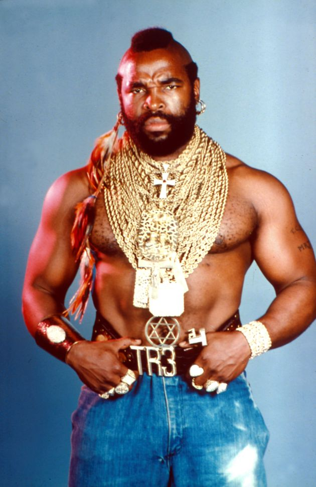 Anton dressed up as Mr T for a fancy dress