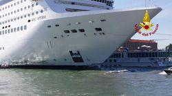 Panique à Venise devant un bateau de croisière hors de