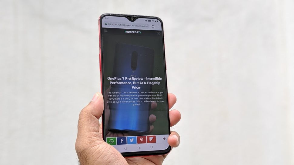 The OnePlus 7 has the same display as the OnePlus 6T, which gives vibrant colours on a panel that's bright...