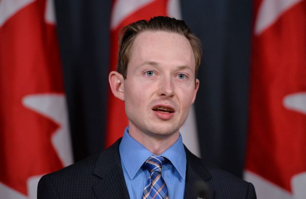 Conservative MP Michael Cooper holds a press conference in Ottawa on April 14,