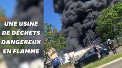 Une usine de déchets dangereux en feu dans le Val d'Oise, la préfecture appelle les riverains au