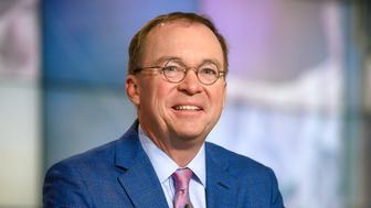 "MEET THE PRESS -- Pictured: (l-r)  White House Chief of Staff Mick Mulvaney appears on ""Meet the Press"" in Washington, D.C., Sunday, June 2, 2019. (Photo by: William B. Plowman/NBC/NBC NewsWire via Getty Images)"