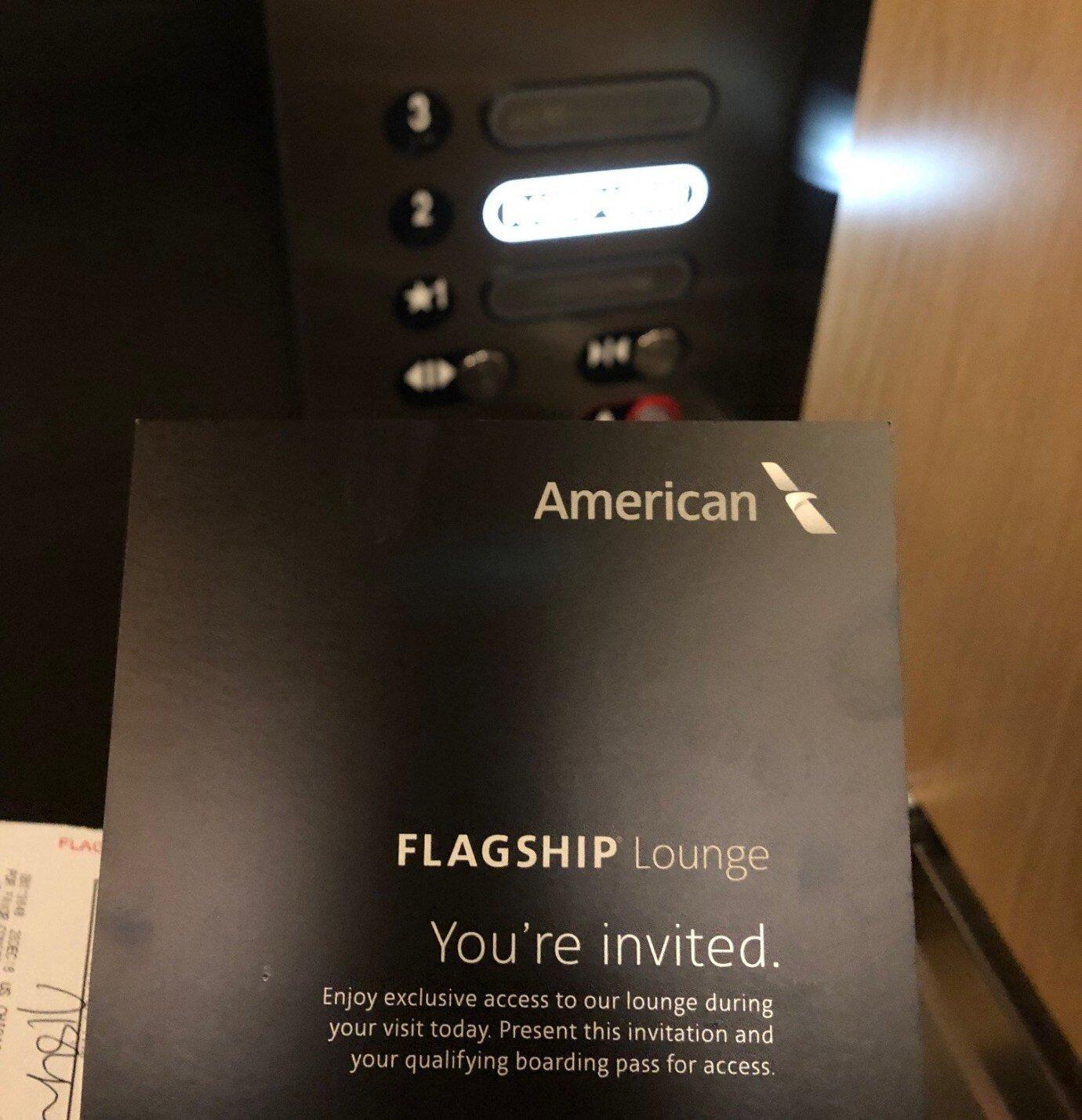 必須出示 Check-In 時拿到的邀請單,才可以使用 Flagship Lounge