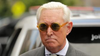 WASHINGTON, DC - MAY 30: Roger Stone, former adviser to U.S. President Donald Trump, leaves the E. Barrett Prettyman United States Court House May 30, 2019 in Washington, DC. Lawyers asked a judge to dismiss the charges of obstruction, lying and witness tampering against Stone that stem from Special Counsel Robert Mueller's investigation into Russian interference in the 2016 election. (Photo by Chip Somodevilla/Getty Images)