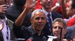 Obama Gets Hero's Welcome At NBA Finals In Toronto With Cheers, 'MVP'