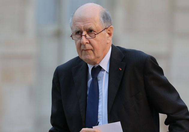 Jean-Marc Sauvé arrivant à l'Élysée en janvier
