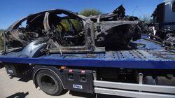 El coche de José Antonio Reyes sufrió un reventón a 237 kilómetros por