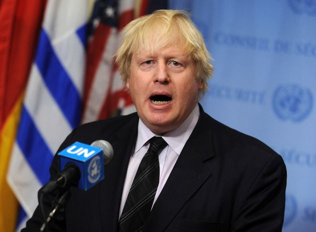 Boris Johnson lors d'un discours aux Nations Unies en avril