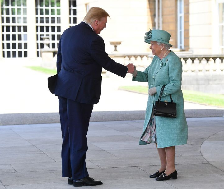 The Queen met Donald Trump at Buckingham Palace on Monday.