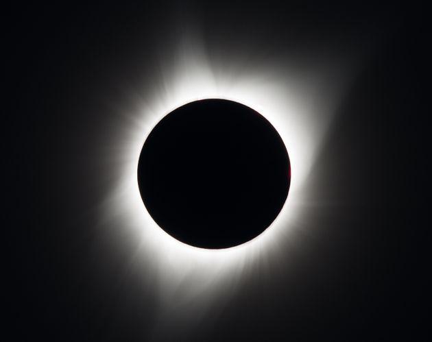 L'éclipse solaire totale photographiée le 21 août 2017, à Madras dans l'Oregon...