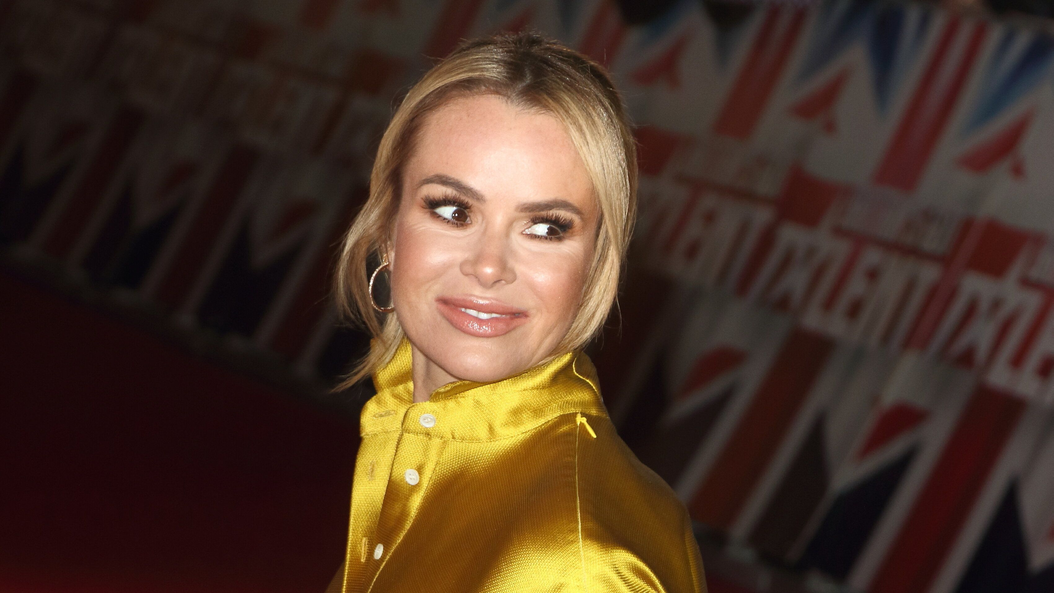 Judge Amanda Holden seen at the London Palladium for the Auditions of Britain's Got Talent TV Show - Series 13. (Photo by Keith Mayhew/SOPA Images/LightRocket via Getty Images)