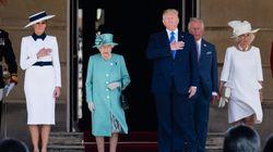 Donald Trump accueilli à Buckingham Palace par la