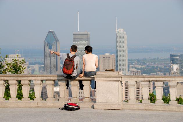Vue sur Montréal depuis le Mont