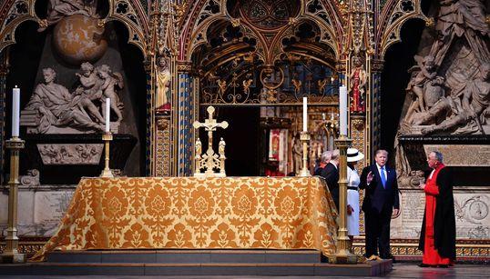 Trump, en Londres: las imágenes (y las caras) de su visita a Reino