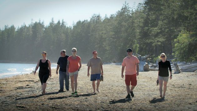 The show's participants, from left to right: Avonlea, Donald, Ashley, Ross, Dallas, and