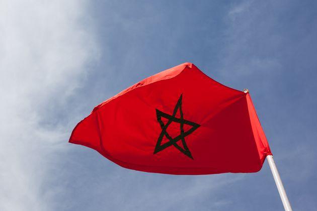 Le drapeau était accroché à un mât./ Photo