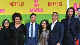 WESTWOOD, CALIFORNIA - MAY 22: Nahnatchka Khan, Michelle Buteau, Randall Park, Ali Wong, Daniel Dae Kim and Keanu Reeves attend the world premiere of Netflix's 'Always Be My Maybe' at Regency Village Theatre on May 22, 2019 in Westwood, California. (Photo by Emma McIntyre/Getty Images for Netflix)