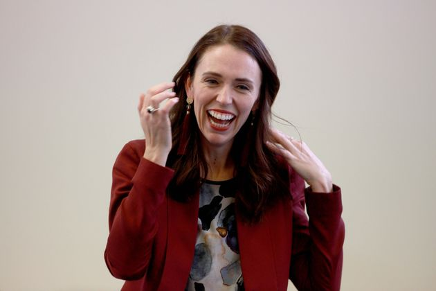 Jacinda Ardern visits a community health center in Auckland on May 31, 2019. Budget 2019 was released...