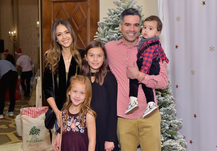 Alba and her husband have three children.