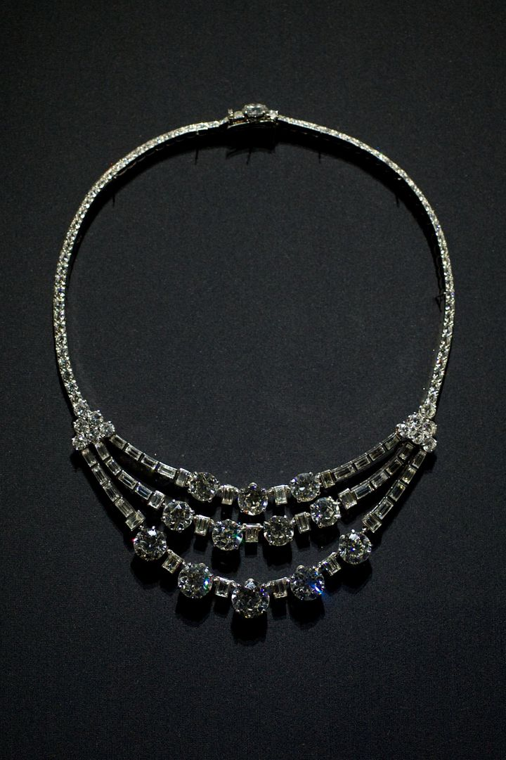 The Cartier necklace was previously on display at Madrid's Museum Thyssen.