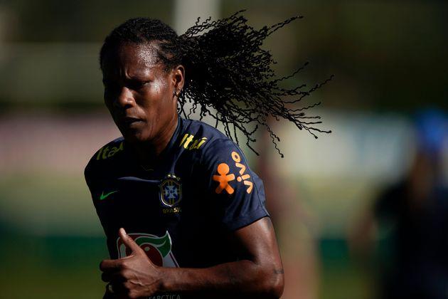 Formiga treina durante preparação para a Copa do Mundo Feminina na França, na Granja...