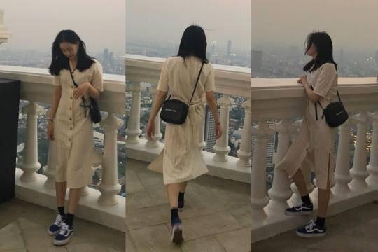 韩星夏季白色洋装私服穿搭图鉴