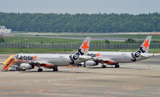 駐機しているジェットスター・ジャパンの機体