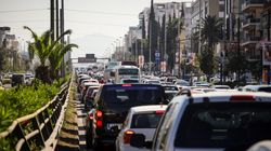 Χαώδης η κίνηση στο ρεύμα ανόδου της Συγγρού - Νεύρα και χιούμορ στο