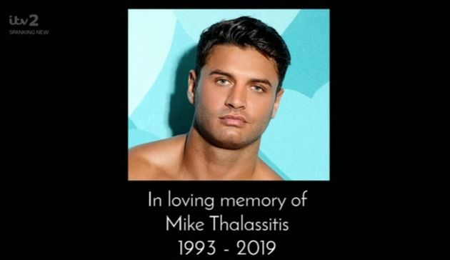 Love Island Airs Mike Thalassitis Tribute At End Of First Episode Huffpost Uk