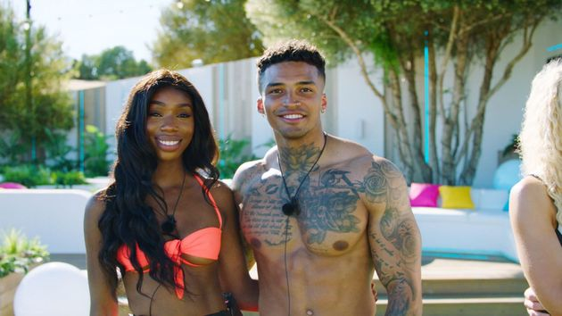 Yewande and Michael in the Love Island