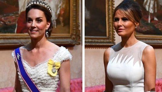 Kate e Melania si sfidano a colpi di eleganza alle cena di Stato a Buckingham
