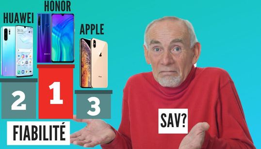 Huawei, Honor et Apple sont les marques de smartphones les plus fiables,