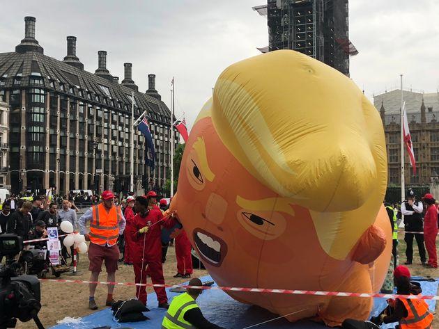 Trump Baby Blimp Flies Over London Once Again