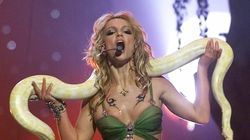 Britney Spears Channels Her Famous Snake Dance In New Home
