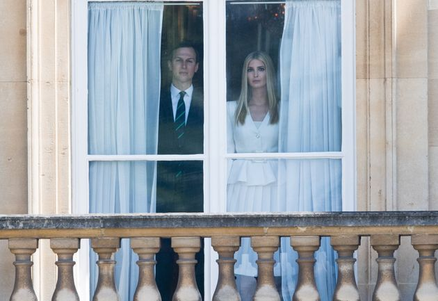 Jared Kushner and Ivanka Trump are seen here in Buckingham Palace in London on June 3,