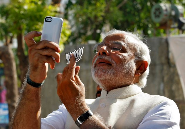 Prime Minister Narendra Modi clicking his own selfie in this file