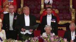 El polémico gesto de Trump a la reina de Inglaterra: ¿lo llega a hacer o