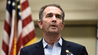 "Virginia Governor Ralph Northam speaks to the press about a mass shooting on June 1, 2019, in Virginia, Beach, Virginia. - A municipal employee sprayed gunfire ""indiscriminately"" in a government building complex on May 31, 2019, police said, killing 12 people and wounding four in the latest mass shooting to rock the US. (Photo by Eric BARADAT / AFP)        (Photo credit should read ERIC BARADAT/AFP/Getty Images)"