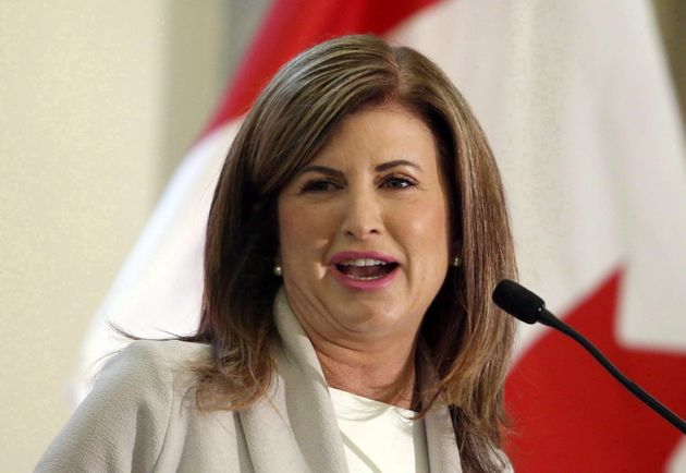 Rona Ambrose, the former federal Conservative leader, is photographed on May 16, 2017, while giving a...