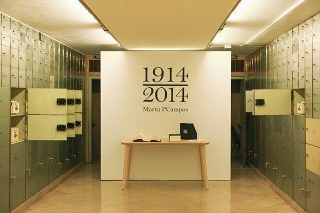 La exposición, en la Caja de las Letras, una antigua cámara acorazada del Instituto Cervantes...