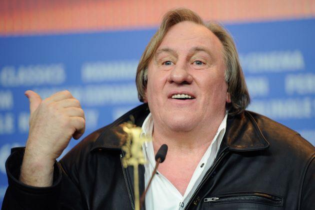 Gérard Depardieu lors d'une conférence de presse à la Berlinale le 19 février