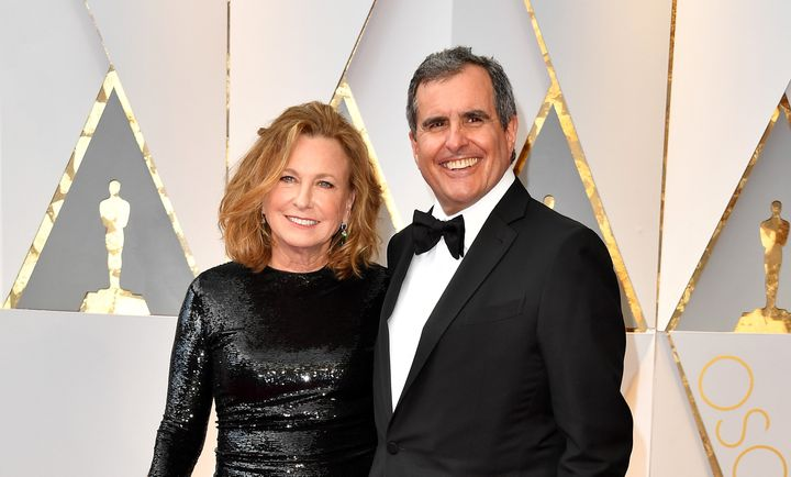 Producer Peter Chernin and his wife, Megan, at the Oscars in 2017.
