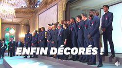 Les Bleus ont reçu la Légion d'honneur à