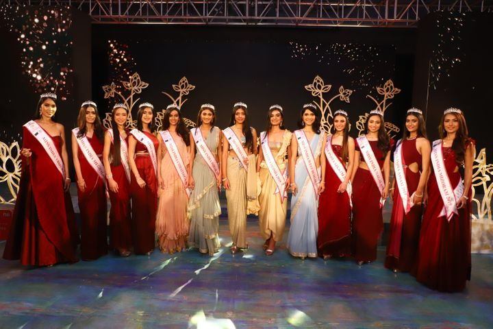 Participants at the fbb Colors Femina Miss India East 2019 on April 23, 2019 in Kolkata, India.