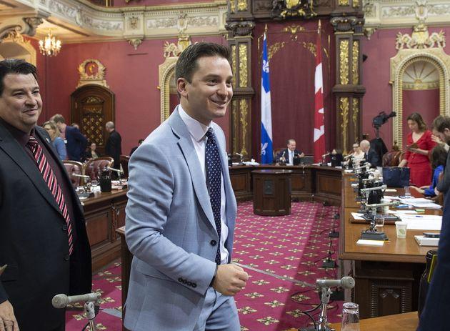Le ministre de l'Immigration, de la Diversité et de l'Inclusion Simon Jolin-Barrette, lors de...
