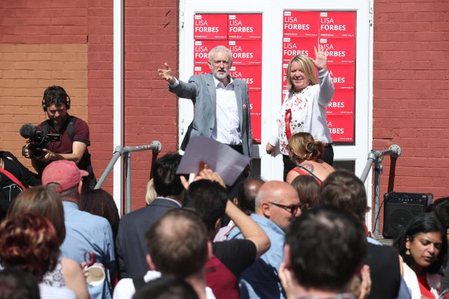 Corbyn campaigning with Labour candidate Lisa