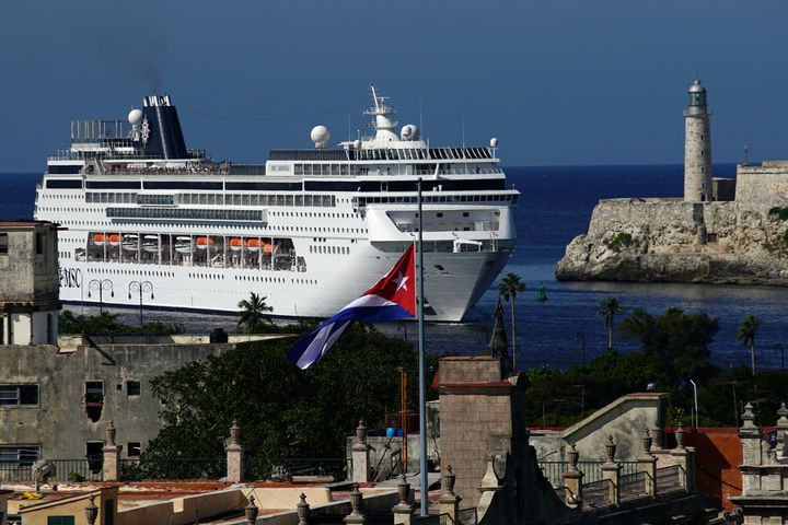 A cruise ship enters the port in Havana, Cuba, in 2016. The Trump administration on Tuesday said it is restricting leisure tr